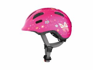 Abus kinder fietshelm Smiley M pink butterfly