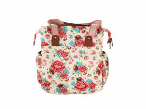 Basil shopper fietstas Bloom wit