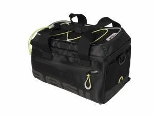 Basil bagagedragertas Miles, zwart lime