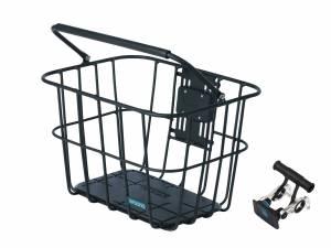 AROUND fietsmand voorop ACE VR ALU incl. stuurhouder, mat zwart