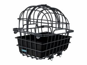 AROUND dierenfietsmand achterop LUNA XL, incl. deelbare koepel en Fix system voor de bagagedrager, mat zwart