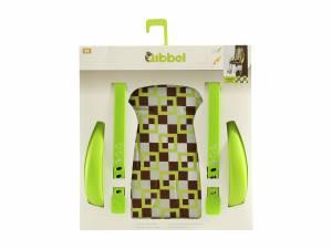 Qibbel luxe stylingset achterzitje Geruit groen