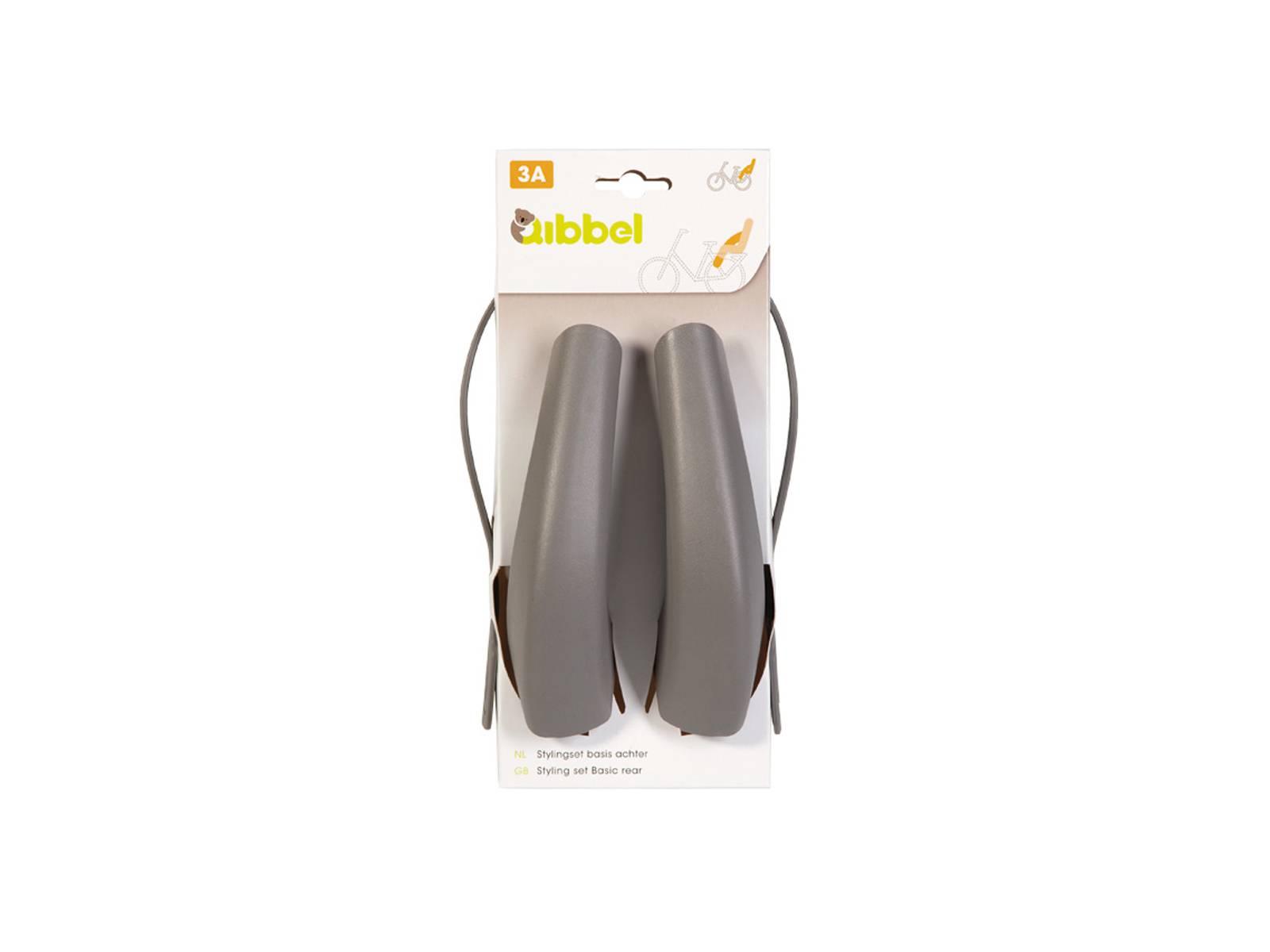 Qibbel stylingset BASIS achterzitje grijs