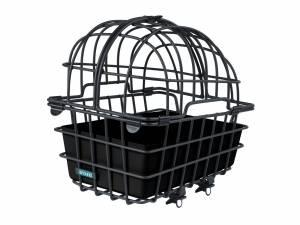 AROUND dierenfietsmand achterop LUNA, incl. deelbare koepel en Fix system voor de bagagedrager, mat zwart