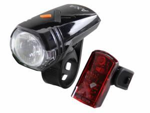 AXA Fiets verlichtingsset Greenline 35 Lux Usb oplaadbaar
