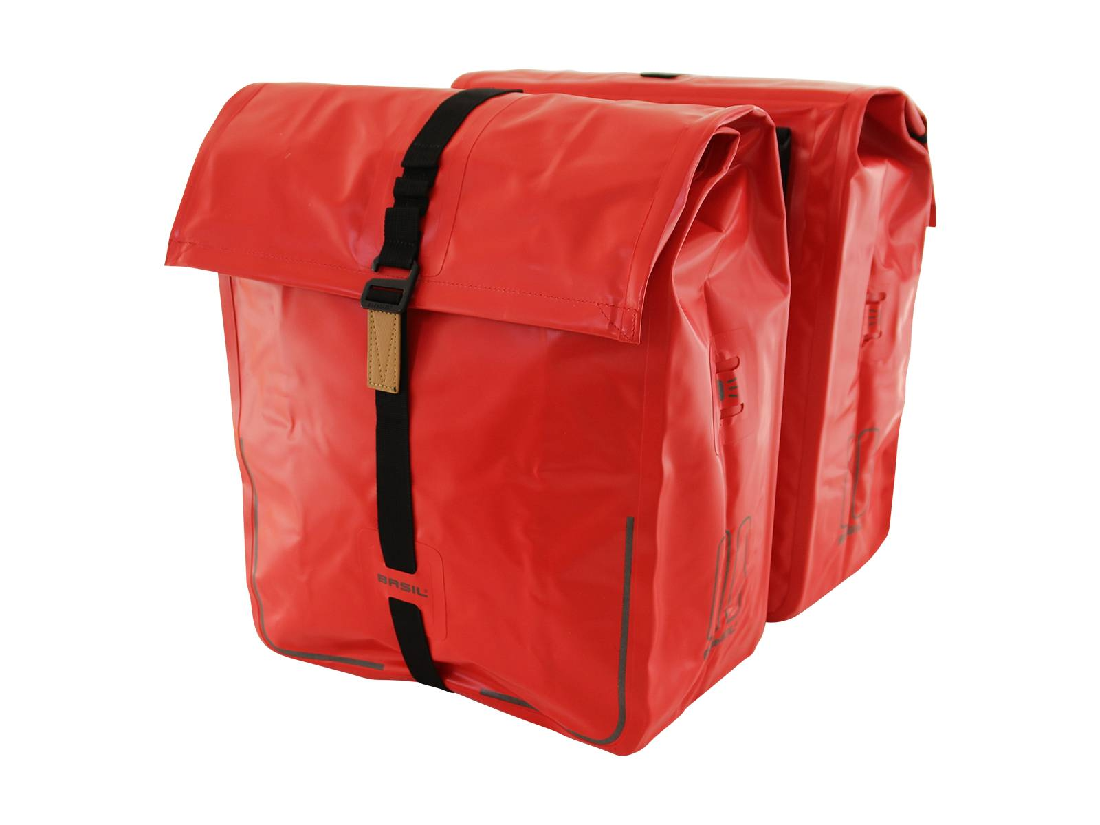 8107bb4d9ef Basil dubbele fietstas Urban Dry rood | Fietscomfort