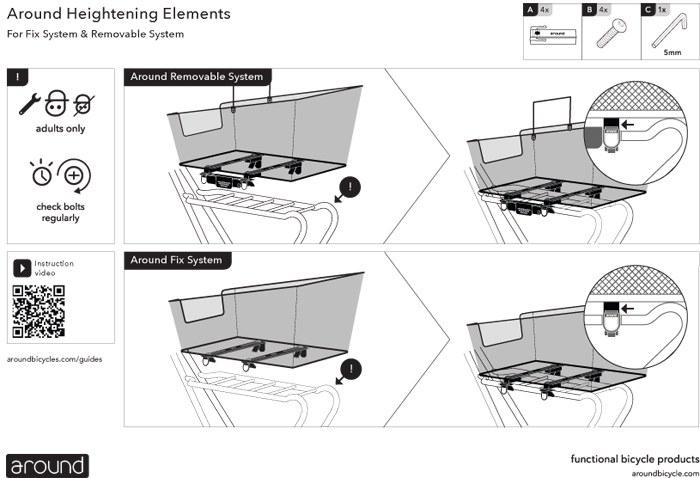 AROUND Verhogingselementen - Montagehandleiding